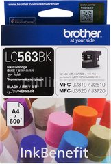 Картридж Brother MFC-J2310/J3520 black (600стр) (LC563BK)