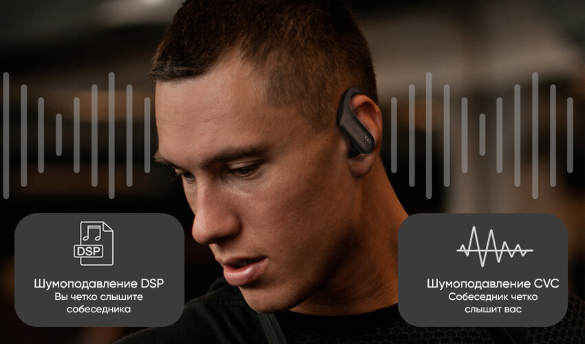 HAYLOU T17 TWS Bluetooth Sport Headsets Black